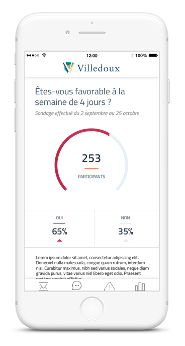 Faire un sondage depuis l'application mobile